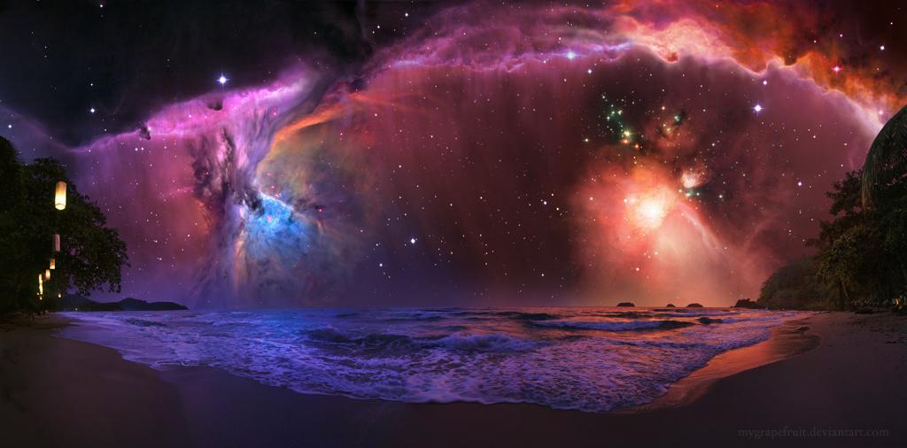 Holiday in Andromeda galaxy. by Mygrapefruit