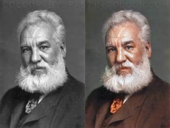 Alexander Graham Bell Colourized by Mygrapefruit