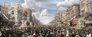 Mardi Gras, New Orleans, ca 1907 Colorized