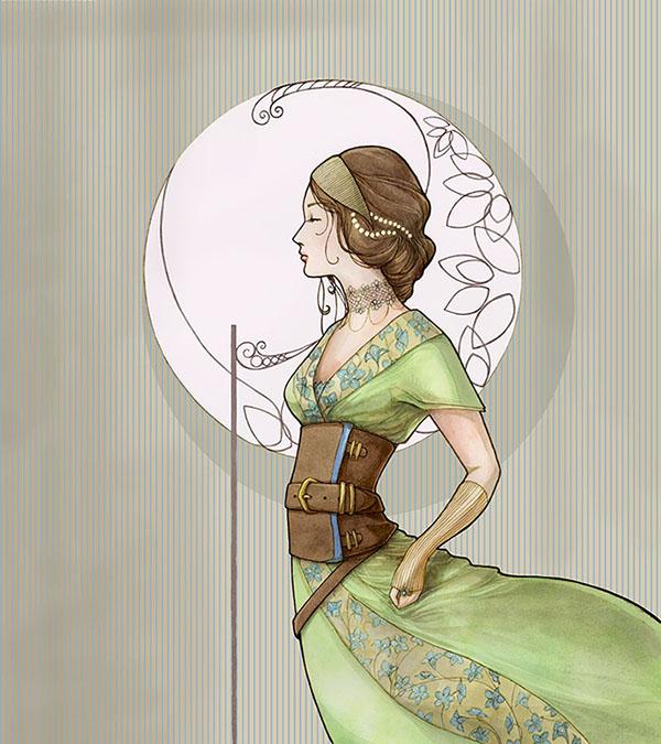 Art nouveau girl by annick