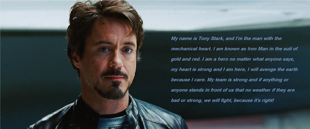 Tony Stark, has a mechanical heart. by Muffinlover24