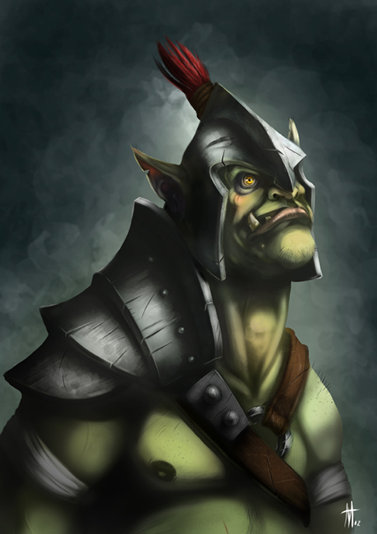 Portrait of an Orc by Coffee-Shakes