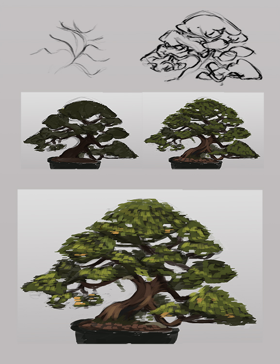Tree sketch step by step by Coffee-Shakes