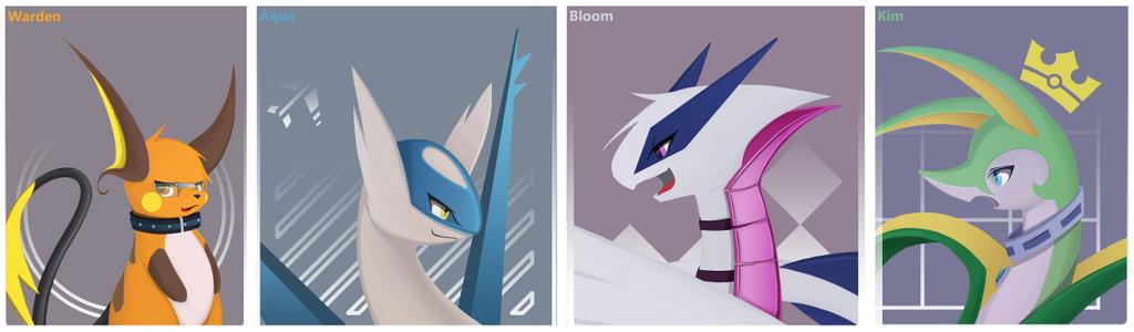 My 4 fan characters by warden006