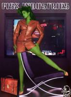 Single Green Female Lawyer by eiledon