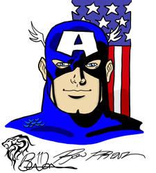 Captain America ala Ron Frenz by eiledon