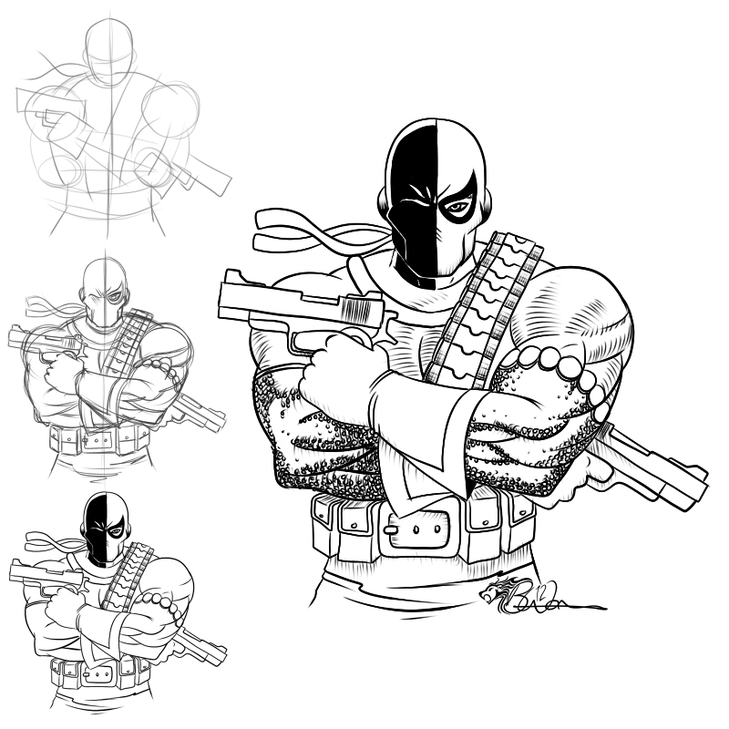 Dsc 180112 deathstroke by eiledon on deviantart for Deathstroke coloring pages