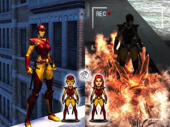 Crimson Fury - Champions Online + Micro Hero by eiledon