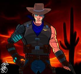 Cowboy By Josephmichaeldavis [colored] by eiledon