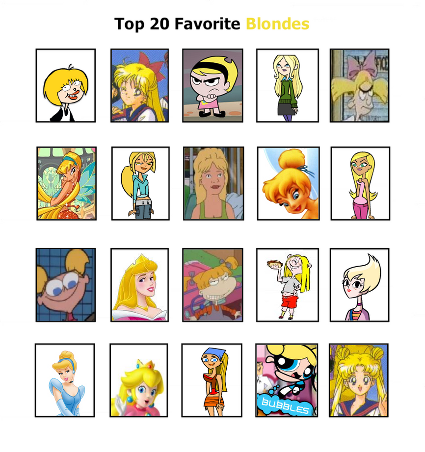 My Top 20 Favorite Blondes by PrincessBeautiful