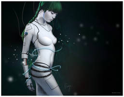 Cyborg Girl by Fingerpflaster