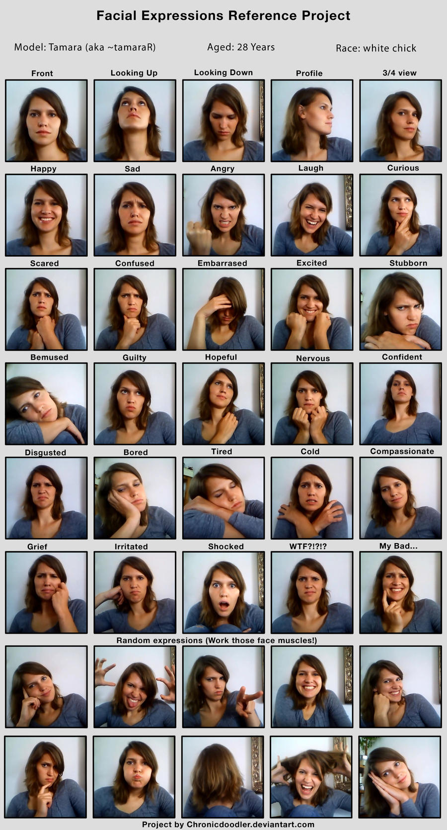 100 Words for Facial Expressions - Daily Writing Tips