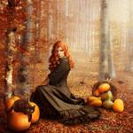 Autumn witch by tamaraR