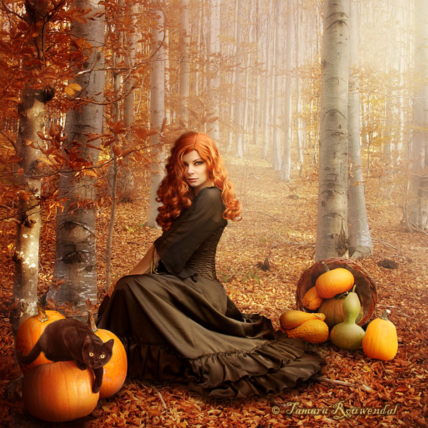 Autumn witch by tamaraR