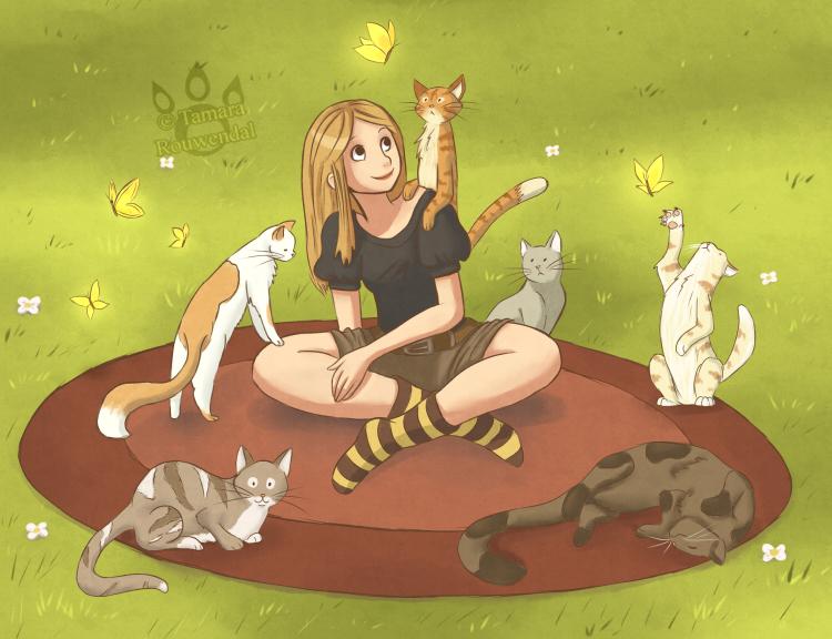 Cat Lady by tamaraR