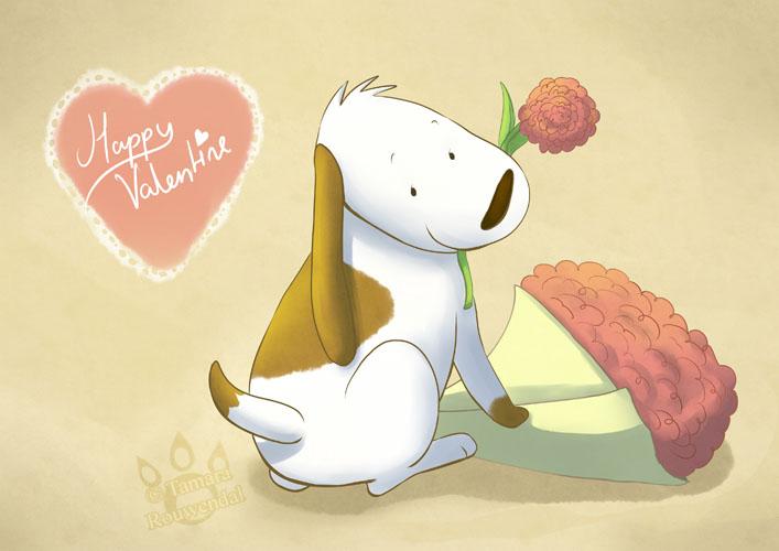 Valentine pup by tamaraR