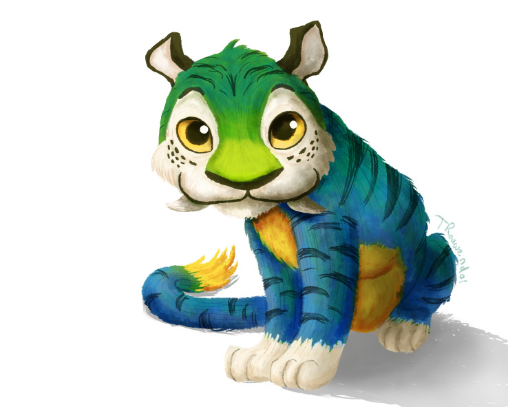 Croods: Chunky the Tiger by tamaraR on DeviantArt