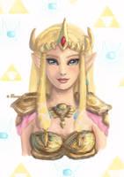 Princess Zelda by tamaraR