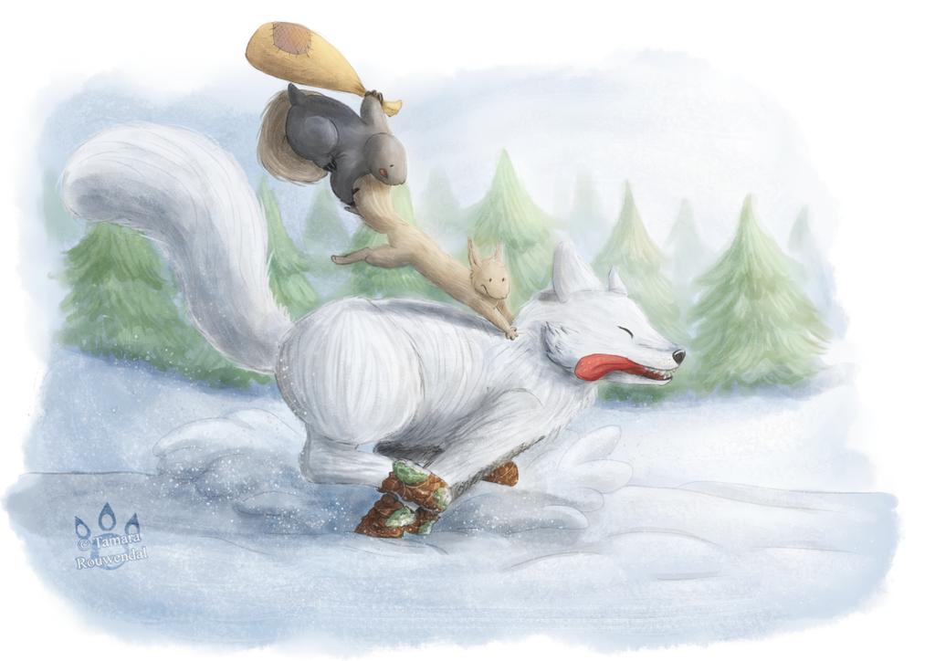 Dashing through the Snow by tamaraR