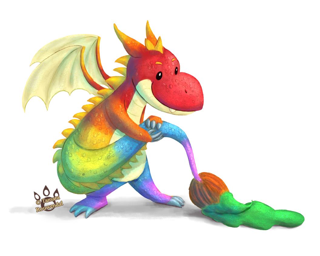 Painterly Dragon by tamaraR