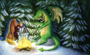 Dragon Bonfire Night by tamaraR