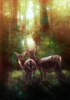 Vintage Deer by tamaraR