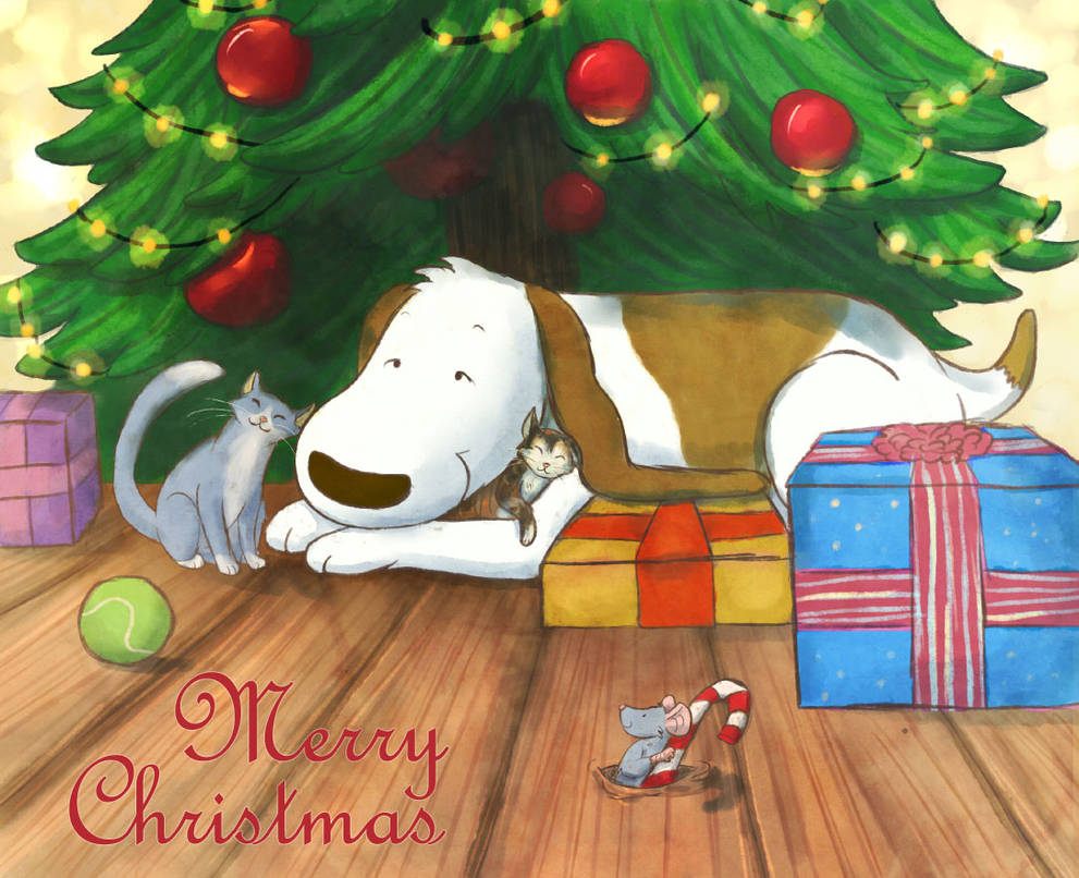 Merry Christmas Poochy 2017 by tamaraR