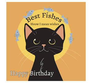 Birthday Black Cat  Best Fishes by tamaraR