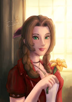 FF7 Aerith the flowergirl