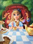 Alice in Wonderland Tea Party by tamaraR