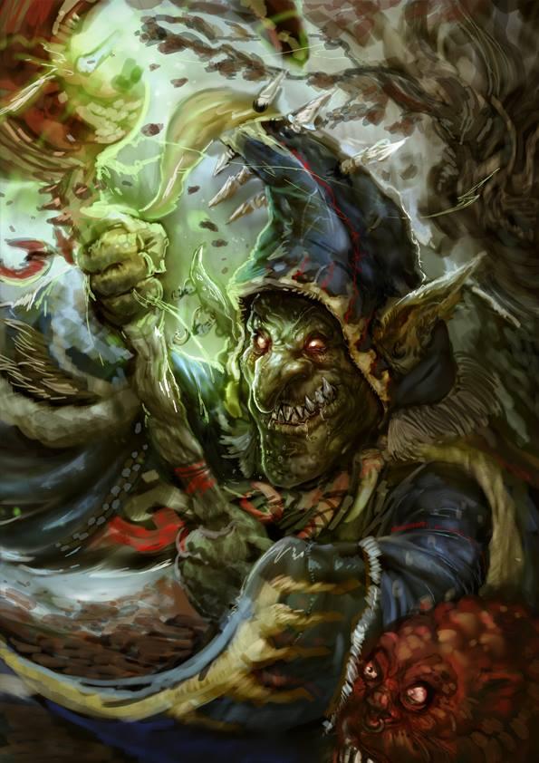 night goblin shaman by phantasmalblue on deviantart