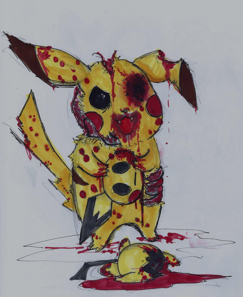 zombie pokemon pikachu by smilingturtle on deviantart