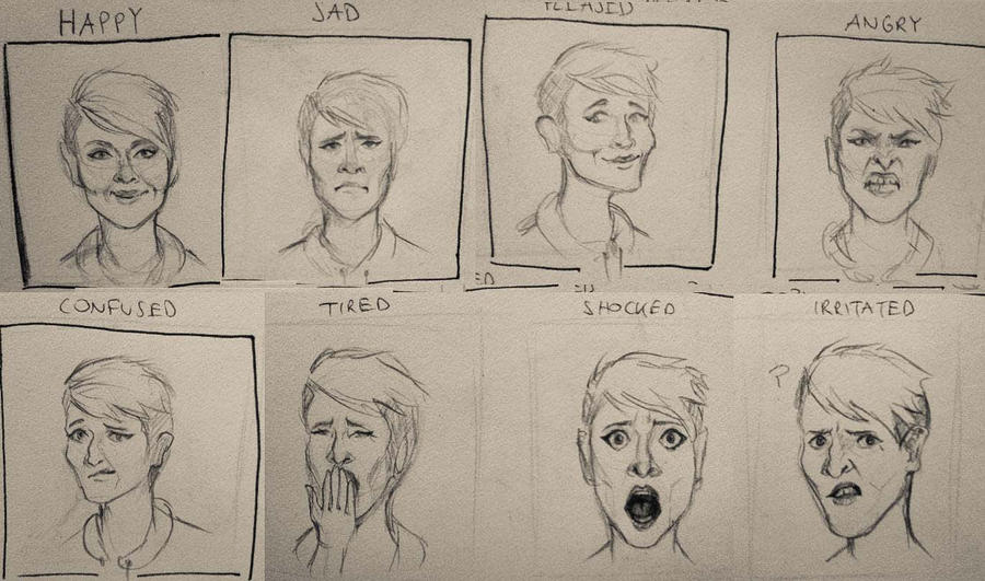 emotions_sketches by InaAmani