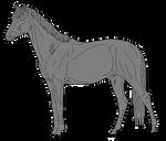 Free lineart: stallion