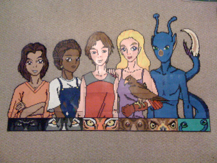 Animorphs in Perler Finished by SpringDasie