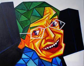 Stephen Hawking by popcubism