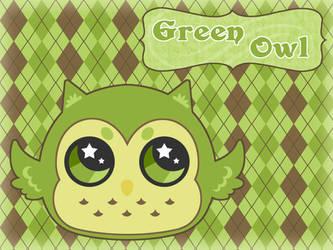 Green Owl BG by Jade-Sage08
