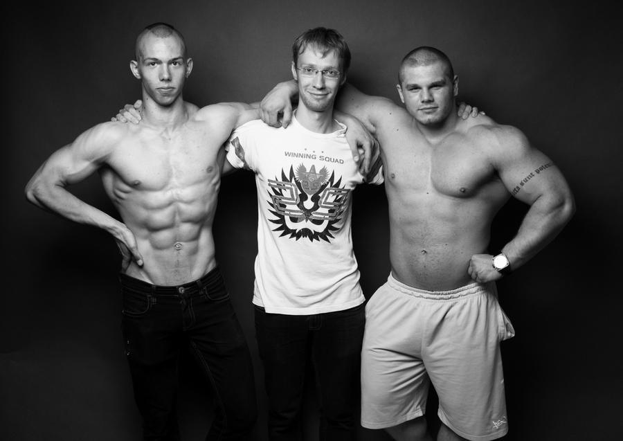 Sergei,Me and Alex by vishstudio
