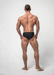 stock male back by vishstudio