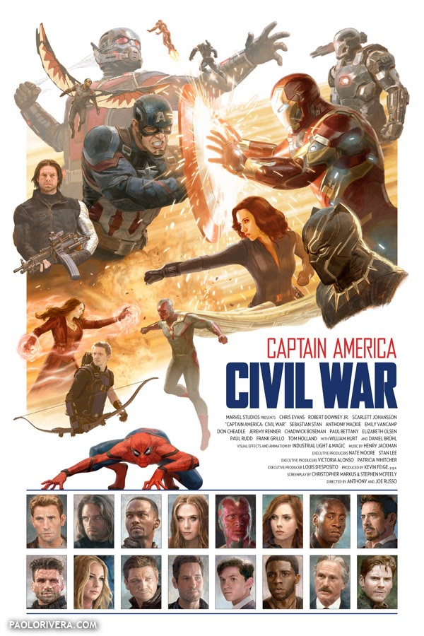 New Captain America: CW Poster by Paolo Rivera