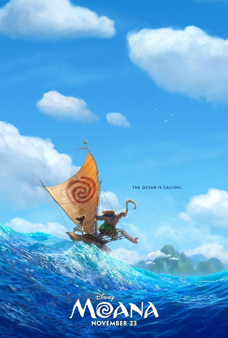 First Official Poster for Disney's Moana by Artlover67
