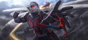 CA: CW Iron Man and Spider-Man vs Giant Man