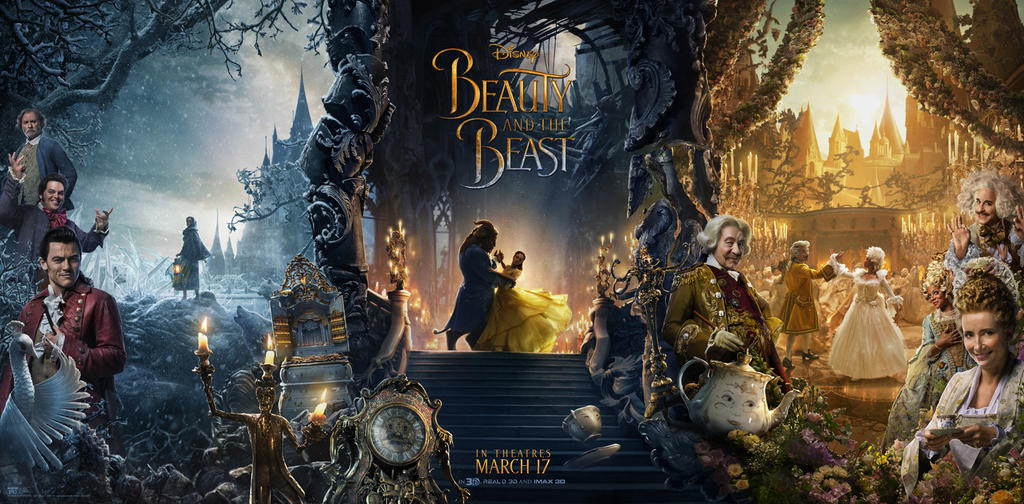 Image result for beauty and the beast banner 2017