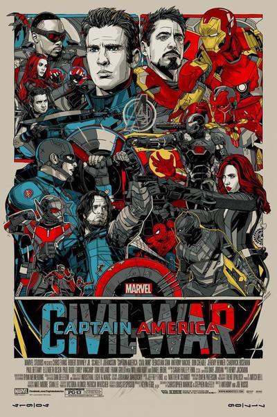 Captain America: Civil War Mondo Poster by Artlover67