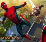 New Spider-Man: Homecoming with Iron Man Artwork