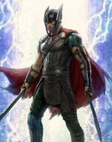 New Thor: Ragnarok Battle Ready Thor Concept Art by Artlover67
