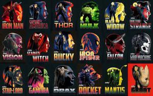 Avengers: Infinity War Character Promo Art