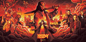New Hellboy (2019) NYCC Banner Poster