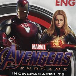Avengers Endgame Iron Man Captain Marvel Promo Art by Artlover67