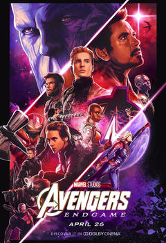 New Avengers: Endgame Dolby Cinema Poster